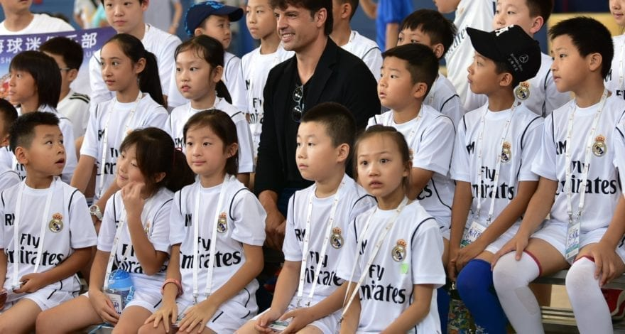 Fernando Morientes, special guest for the fifth edition of the Real Madrid Foundation Campus Experience in Shanghai.