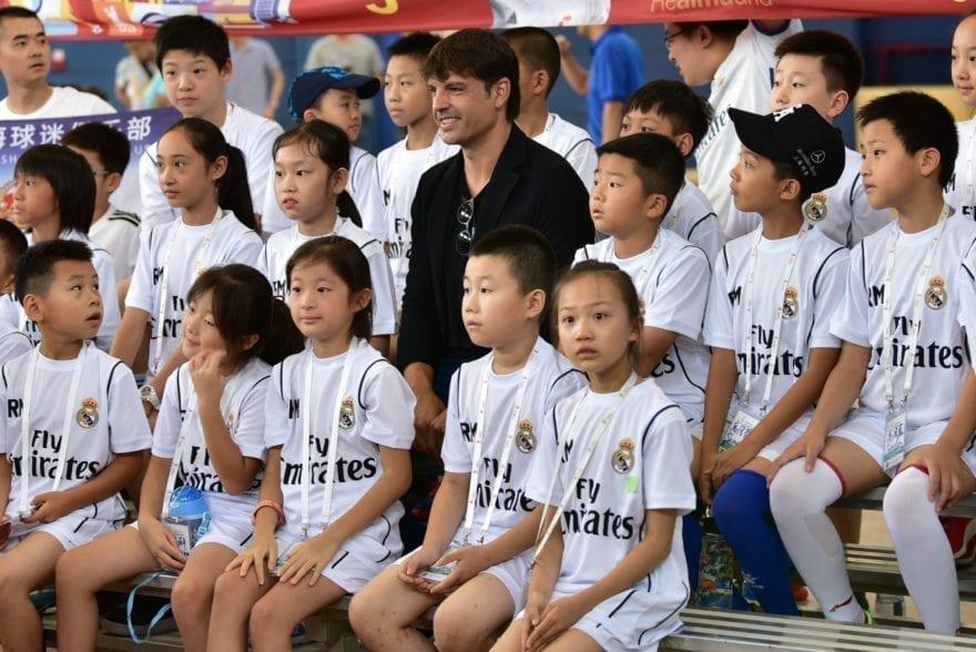 Fernando Morientes invitado especial de la quinta edición del Campus Experience Fundación Real Madrid en Shanghái